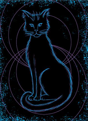 digital art cat